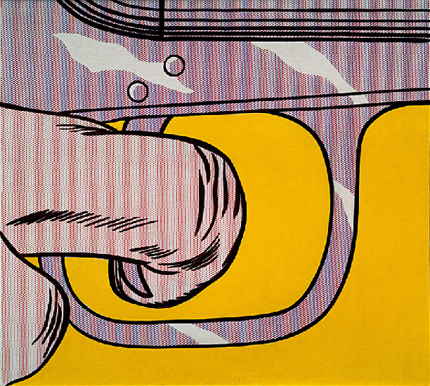 famous painting Gatilho dedo  of Roy Lichtenstein