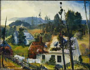 George Wesley Bellows - the vine red , ilha matinicus , Maine