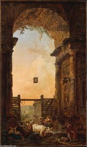 Hubert Robert - O Retorno do Gado