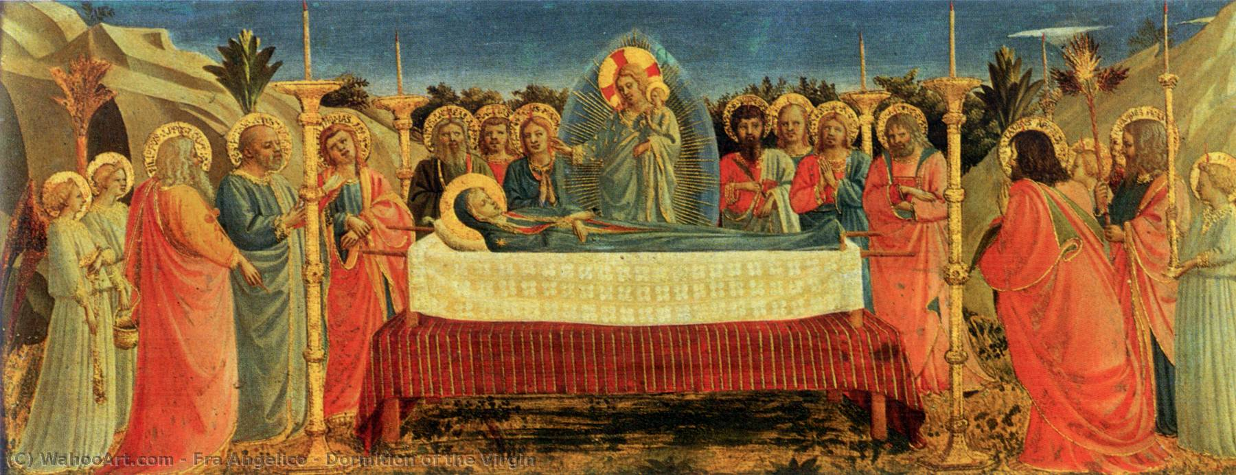 famous painting dormition` de virgem of Fra Angelico