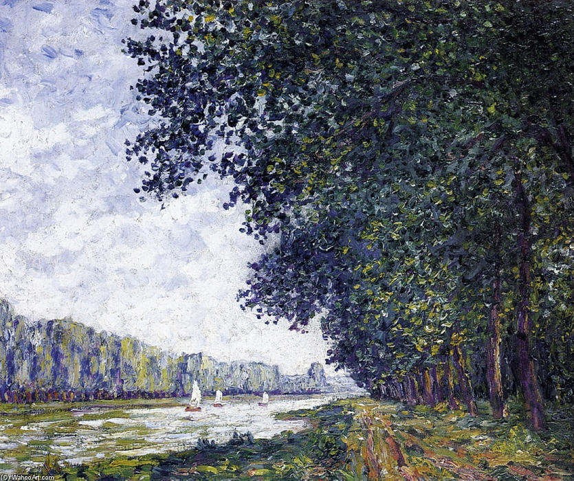 famous painting Bancos do Orne em Benouville of Francis Picabia