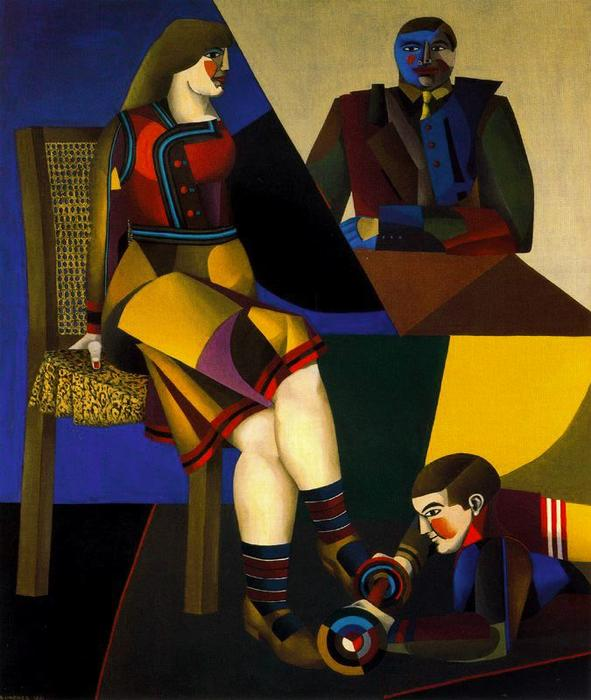 famous painting A Tabela of Richard Lindner