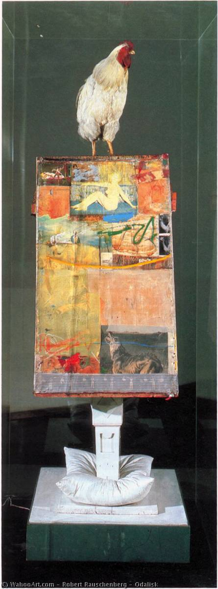 famous painting Odalisca of Robert Rauschenberg