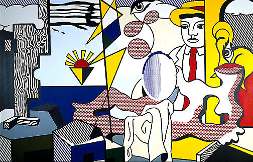 famous painting Figuras com  do sol  of Roy Lichtenstein