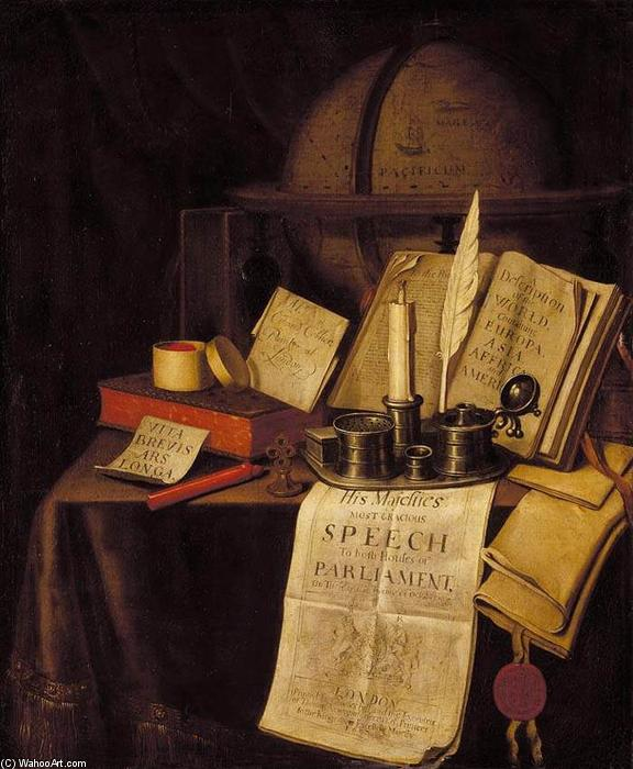 famous painting Vanitas Still-Life (10) of Edwart Collier (Evert Colyer)