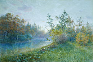 William Stanley Haseltine - Moinho represa em Traunstein