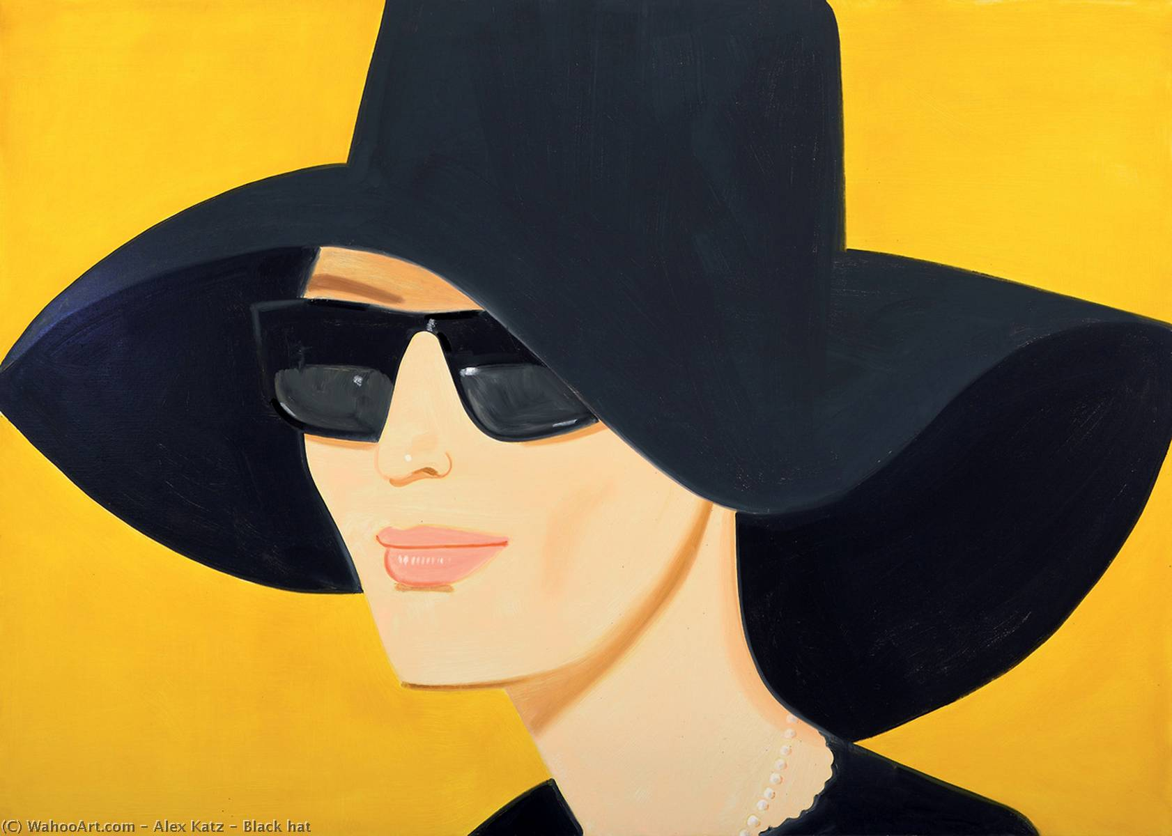 famous painting preto chapéu  of Alex Katz