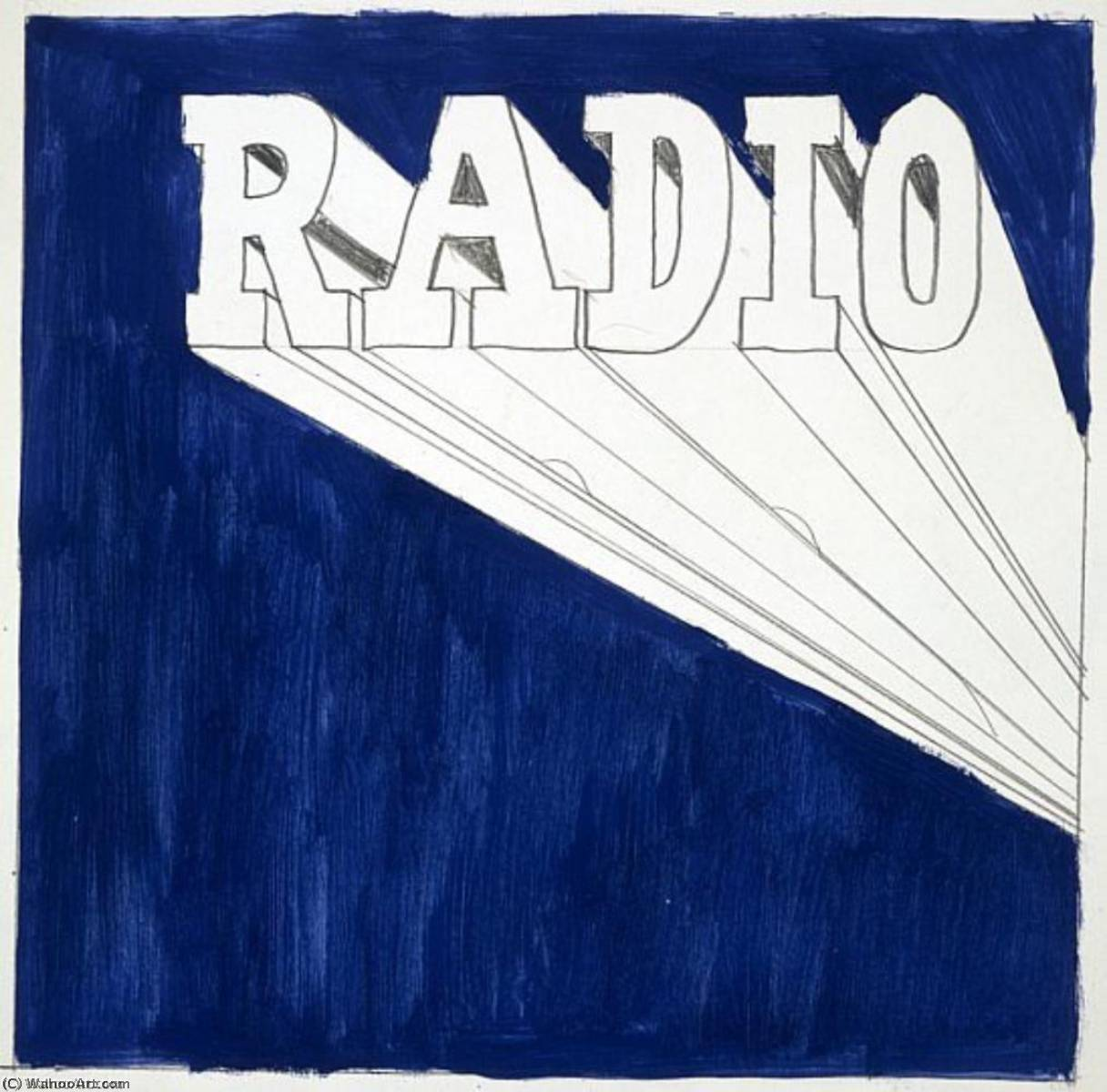 famous painting rádio of Edward Ruscha