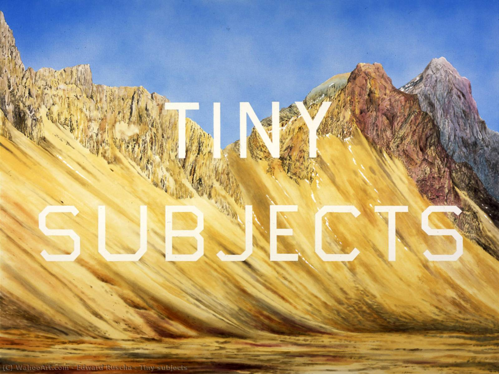 famous painting pequeno temas  of Edward Ruscha