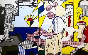Roy Lichtenstein - Figuras com  do sol