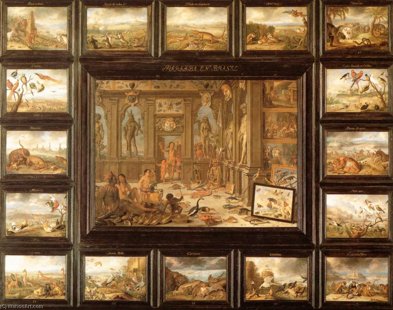 famous painting o continente  dos  AMÉRICA  of Jan Van Kessel The Elder