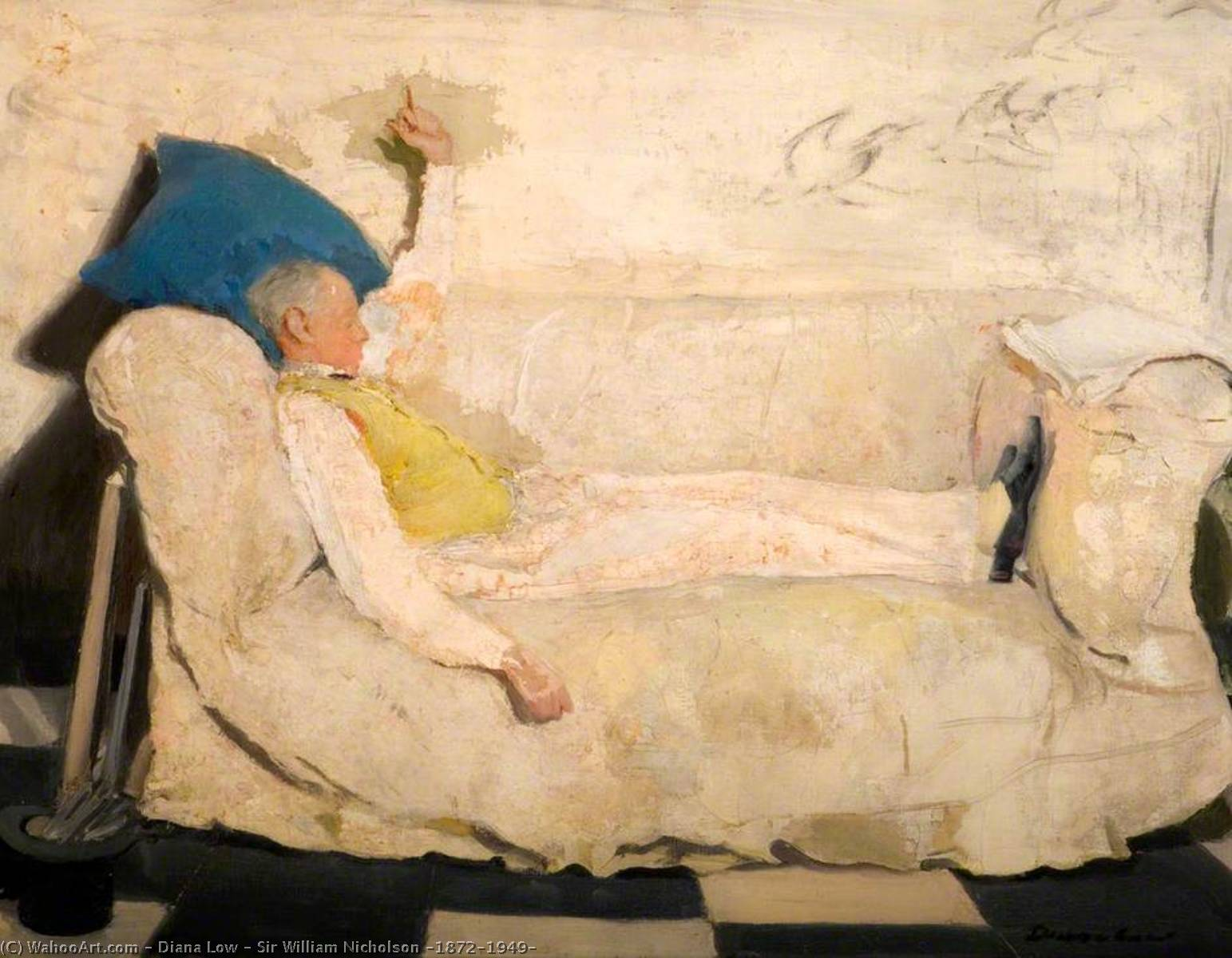 famous painting sir william nicholson ( 1872–1949 ) of Diana Low